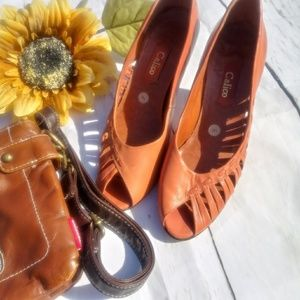 J-Adorn Women's Heel Pump Fall Orange/Brown Shoes